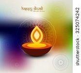happy diwali design vector... | Shutterstock .eps vector #325074242