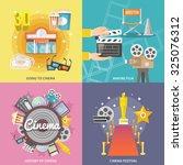 historical cinema festival... | Shutterstock . vector #325076312