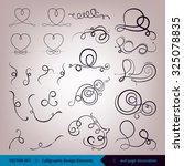 vector set of calligraphic...   Shutterstock .eps vector #325078835