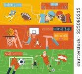 american football basketball... | Shutterstock . vector #325080215