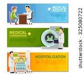 medical horizontal banners set... | Shutterstock . vector #325080722