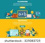education horizontal banner set ... | Shutterstock . vector #325083725