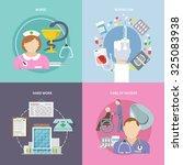 nurse workflow design concept... | Shutterstock . vector #325083938