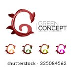 set of abstract eco plant icons ... | Shutterstock .eps vector #325084562