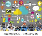 social media social networking... | Shutterstock . vector #325084955