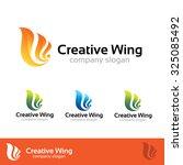 creative wing logo vector logo... | Shutterstock .eps vector #325085492