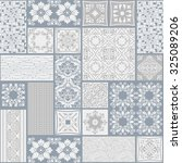 seamless patchwork tile with...   Shutterstock .eps vector #325089206