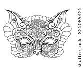 vector beautiful masquerade... | Shutterstock .eps vector #325089425