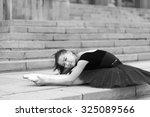 girl ballerina flats standing... | Shutterstock . vector #325089566