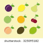 fruits icons. vector | Shutterstock .eps vector #325095182