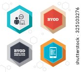 hexagon buttons. byod icons.... | Shutterstock .eps vector #325103276