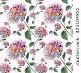 flower dahlia seamless pattern | Shutterstock . vector #325104932