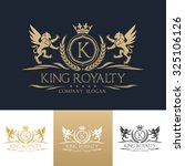 king royalty boutique brand... | Shutterstock .eps vector #325106126