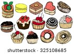 set of colorful isolated hand... | Shutterstock .eps vector #325108685