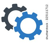 gears illustration icon. style... | Shutterstock . vector #325111712