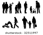 vector drawing of children from ... | Shutterstock .eps vector #32511997