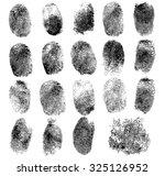 set of fingerprints  vector... | Shutterstock .eps vector #325126952