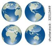 vector glossy globes | Shutterstock .eps vector #32513449