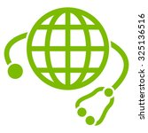 global medicine vector icon.... | Shutterstock .eps vector #325136516
