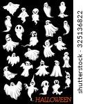big set of halloween flying...   Shutterstock .eps vector #325136822