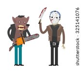 characters werewolf and maniac... | Shutterstock .eps vector #325141076