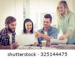 creative business people... | Shutterstock . vector #325144475