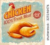 chicken vintage | Shutterstock .eps vector #325146476