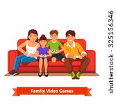 family  mom  dad  son and... | Shutterstock .eps vector #325156346