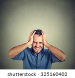 Stressed Man Upset Frustrated...