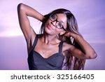 close up portrait of cute teen... | Shutterstock . vector #325166405