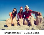 concept  new year on the beach. ... | Shutterstock . vector #325168556