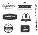 vintage vector design elements  ... | Shutterstock .eps vector #325171325
