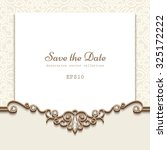 elegant save the date card with ... | Shutterstock .eps vector #325172222