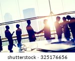 silhouettes of business people... | Shutterstock . vector #325176656