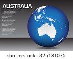 australia globe. earth globe.... | Shutterstock .eps vector #325181075