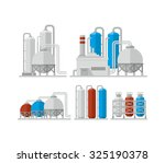 chemical plant vector icon | Shutterstock .eps vector #325190378