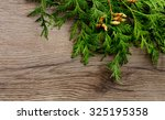christmas decorations with of... | Shutterstock . vector #325195358