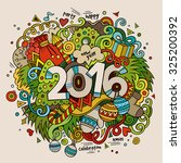 2016 new year hand lettering... | Shutterstock .eps vector #325200392