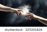 close up of human hands... | Shutterstock . vector #325201826