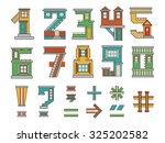 handmade font  cartoon style... | Shutterstock . vector #325202582