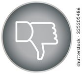 vector hand with thumb down icon   Shutterstock .eps vector #325205486