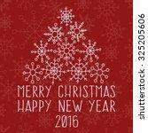 christmas tree snowflakes... | Shutterstock .eps vector #325205606