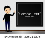 a man is standing beside black... | Shutterstock .eps vector #325211375