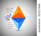 pyramid infographic made from... | Shutterstock .eps vector #325217666