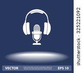 microphone with headphones sign ...   Shutterstock .eps vector #325221092