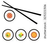 vector sushi logo design... | Shutterstock .eps vector #325221506