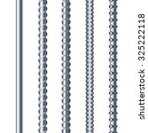 sreel rebars set on white... | Shutterstock .eps vector #325222118