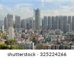 hong kong   oct 8  2015  aerial ... | Shutterstock . vector #325224266