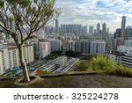 hong kong   oct 8  2015  aerial ... | Shutterstock . vector #325224278