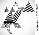 vector hipster triangle... | Shutterstock .eps vector #325227002
